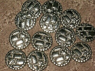 Chanel  Cc Logo 13  Silver Metal Buttons  18 Mm/ Around 3/4'' Lot 13 Flawless