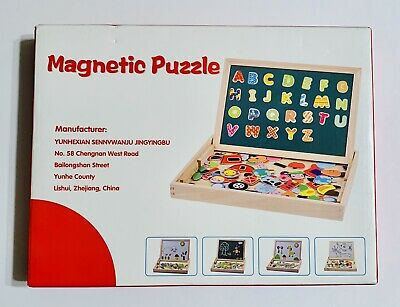 Kids Magnetic Drawing Board Wooden Children Puzzles Educational Puzzle Ki HLR