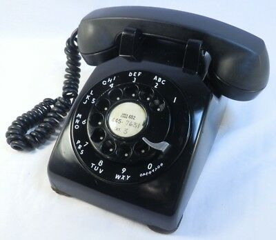 Western Electric 1957  Black Telephone Bell System Bakelite Prescott Arizona 602