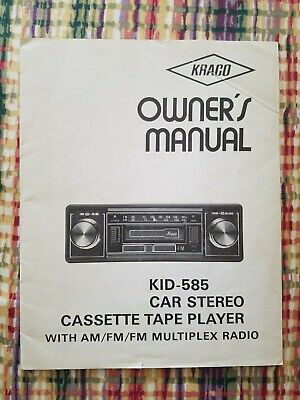 VINTAGE KRACO STEREO Cette Adapter for 8-Track Tape ... on