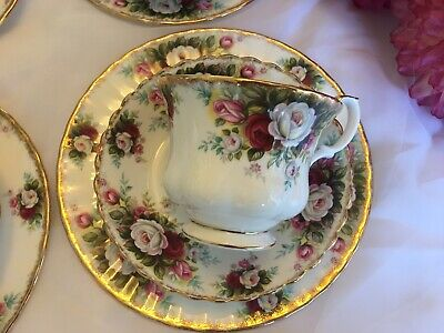 Royal albert celebration bone china trios