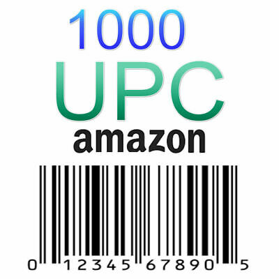 1000 UPC Numbers UPC Barcodes EAN Bar Code UPC Number Labels US UK EU Amazon