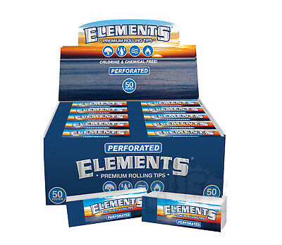 ELEMENTS PERFORATED Tips Roach Books Cigarette Rolling Papers Booklets Full Box