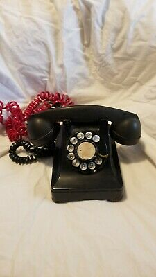 Antique Northern Electric Company Black Rotary Dial Telephone 1930's Canada