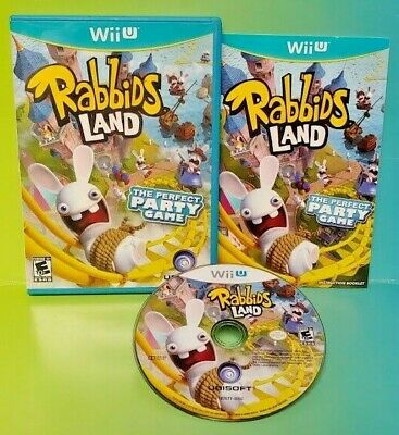 Rabbids Land -  Nintendo Wii U Game Tested Complete With Manual Party Game