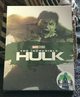 Incredibile Hulk [Blufans] Marvel Mcu Blu-Ray Steelbook Full Slip Nuovo #481