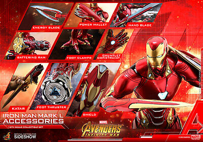 Hot Toys Avengers Infinity War Iron Man Mark L 50 Accessories Set MISB In Stock