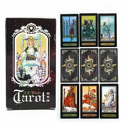 78 Card Witch Tarot Deck Future Fate Indicator Forecasting Cards Gift Table Game