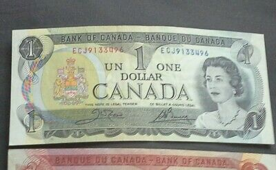 1973 Bank Of Canada One 1 Dollar   Bank Note Beautiful  Bill