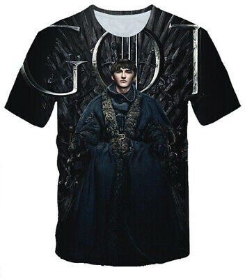Women Men 3D T-Shirt Print TV Game Of Thrones Short Sleeve Tee Tops Streetwears