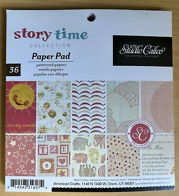 American Crafts Studio Calico 6x6 Pad Wonderland Autumn Press Or Seen /& Noted