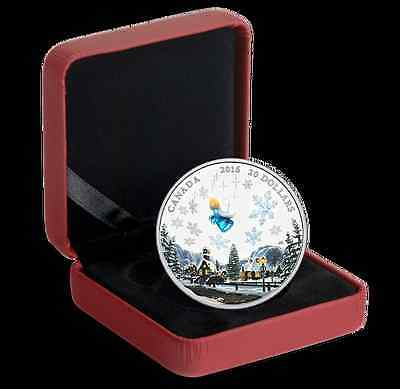 2016 Canada 1 oz Fine Silver Coin, Venetian Murano Glass, Angel, No SaleTax