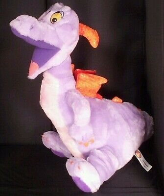 Disney Parks Figment 15 inch Epcot Dragon Purple Plush Animal Disneyland WDW