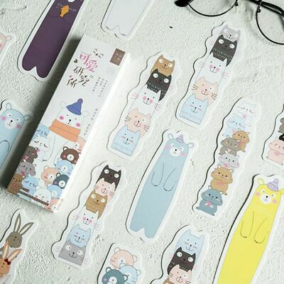 30pcs Cute Cartoon Bookmarks Paper Page Notes Label Message Card Book Marker