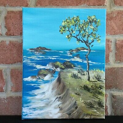 Small Landscape Tree  Acrylic painting on canvas Original Art  impasto