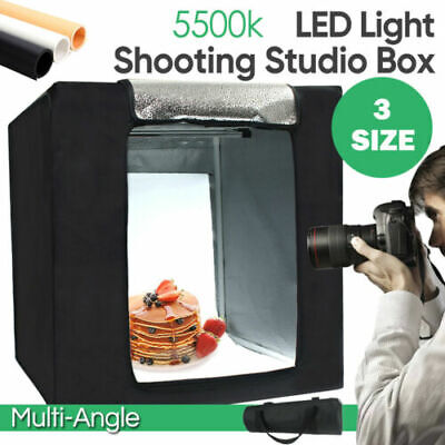 Photography Studio LED Light Tent Photo Lighting Soft Box Kit Cube Room Portable