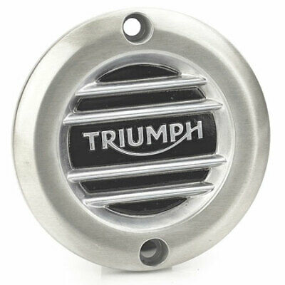 Genuine Triumph Ribbed Brushed Clutch Cover Badge A9610252