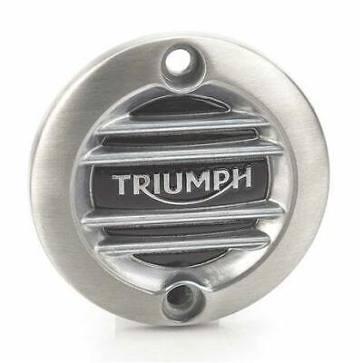 Genuine Triumph Modern Classic Brushed Ribbed ACG Badge A9610260