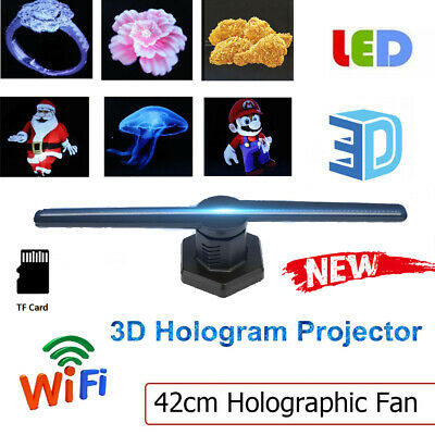 3D LED Holographic Display Projector Hologram Advertising Displayer+8G TF Card