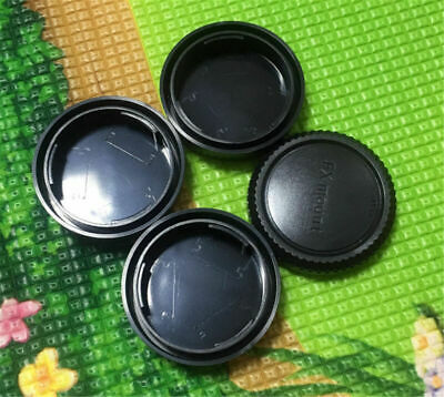 3 x Rear Lens Cap+ 1x Front body cap cover for Fuji Fujifilm FX-mount camera