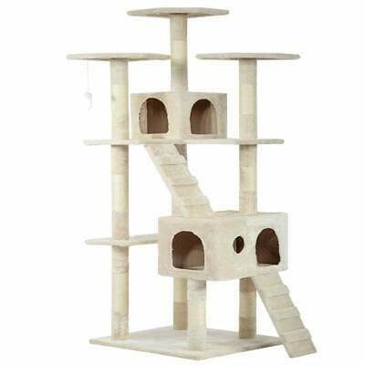 Cat Tree Cat Tower Cat Condo Tall Multi Level Playpen House with Funny Toys