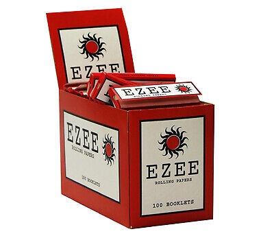 Ezee Red Standard Size Cigarette Rolling Papers - Box of 100 Booklets