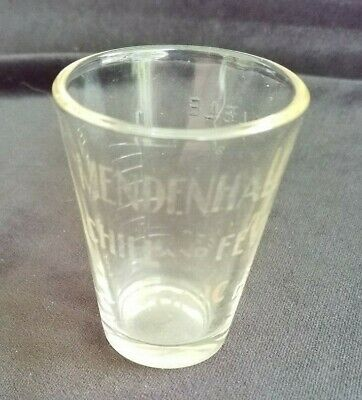 Old Advertising Quack Medicine Dose Glass Mendenhall's Chill & Fever Tonic