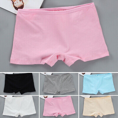 Kids Girls Boxer Shorts Briefs Panties Knickers Underwear Underpants Solid Color