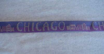 12 Feet Webbing-Strapping-Chicago & Skyline Woven Graphics-High Quality-1 Inch