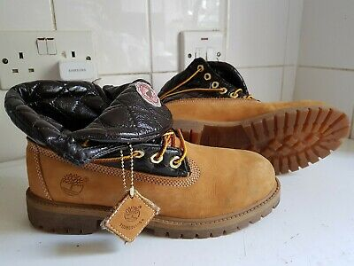 Timberland Premium Waterproof Boys Girls Kids Brown Wheat Nubuck Boots Uk 5 38