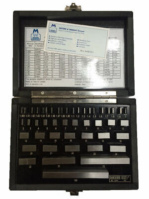 New Moore & Wright Steel Gauge Blocks 700 Series - MW700-09 - Direct From Myford