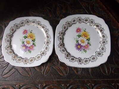 "Beautiful ""Windsor"" Bone China, Made In England Side Plates X 2"