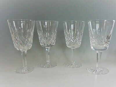 """Waterford Crystal Lismore Water Goblets 6 7/8"""" Set of 4"""
