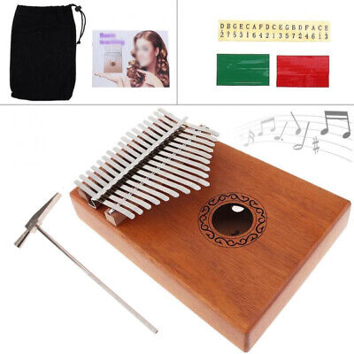 17 Key Kalimba Single Board Mahogany Thumb Piano Musical Instrument Gift Great