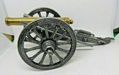 Metal & Brass Militaria Cannon Piece Display Piece / Paper Weight Book End