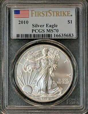 2010 Silver American Eagle PCGS MS70 FIRST STRIKE