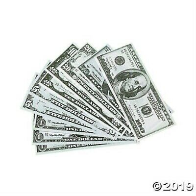 Play Money Play Bills $1 $5 $10 $20 $50 $100 Party Decoration Favor Supply