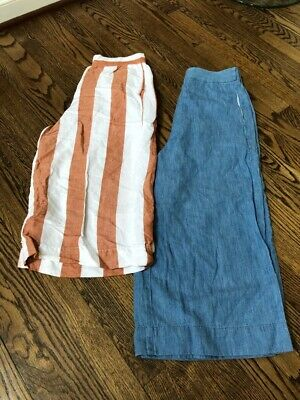 2265f54fa5 MADEWELL WIDE LEG Cover Up Crinkled Beach Pants Women's Small NWT ...