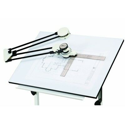 Drafting Machine With Protractor And Articulated Arm Drawing Board Layout clamps