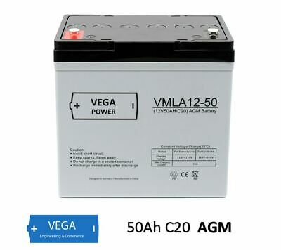 12V 50Ah Sunstone Power Akku AGM GEL Blei Batterie Bleiakku Bleigel 45 55 60Ah