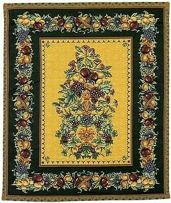 Old World Italy Woven Decor Wall Hanging Tapestry 42 x 35""