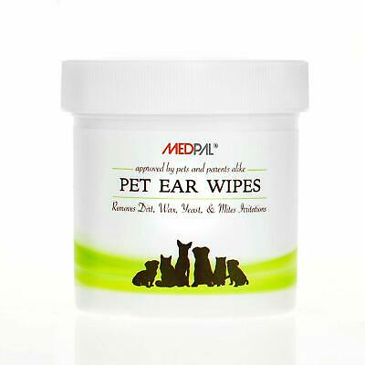 MedPal Professional Pet Ear Cleansing Wipes for Dogs and Cats - 100 Count