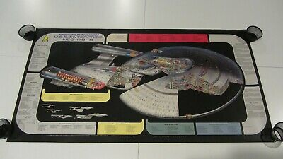 Vintage 1991 Star Trek Next Generation USS Enterprise Cutaway Poster - 4' x 2'