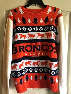 buy online 9958c 7df38 MEN'S NFL DENVER Broncos Klew Big Logo Full-Zip Christmas ...