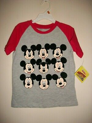 "Boys sz. 3T Short Sleeve  Red/Gray  ""Mickey Mouse"" Tshirt  *NEW W/ Tags*"
