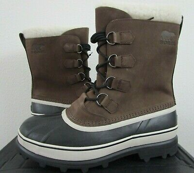 NIB Mens 13 Sorel Caribou Leather Waterproof Winter Insulated Boots - Bruno