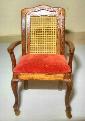 CORNER ARM CHAIR MAHOGANY VINTAGE  #234 DOLLHOUSE FURNITURE MINIATURES
