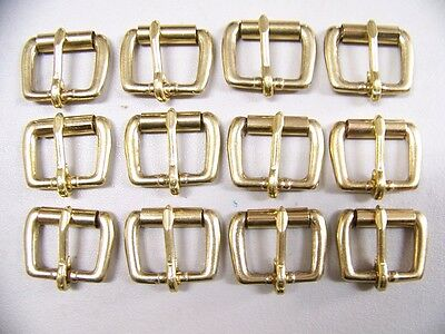 Leather Craft Buckles #50 Roller Buckle Solid Brass 1 Inch Size Quantity of 12