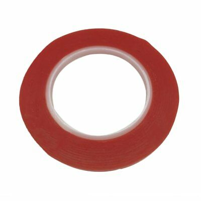 1mm 25 metres Double Sided Adhesive Tape Strong Super Sticky Red Craft Tap TQ