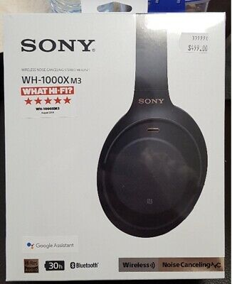 Brand New Sealed SONY WH-1000XM3 black Wireless Bluetooth Noise Cancelling $499